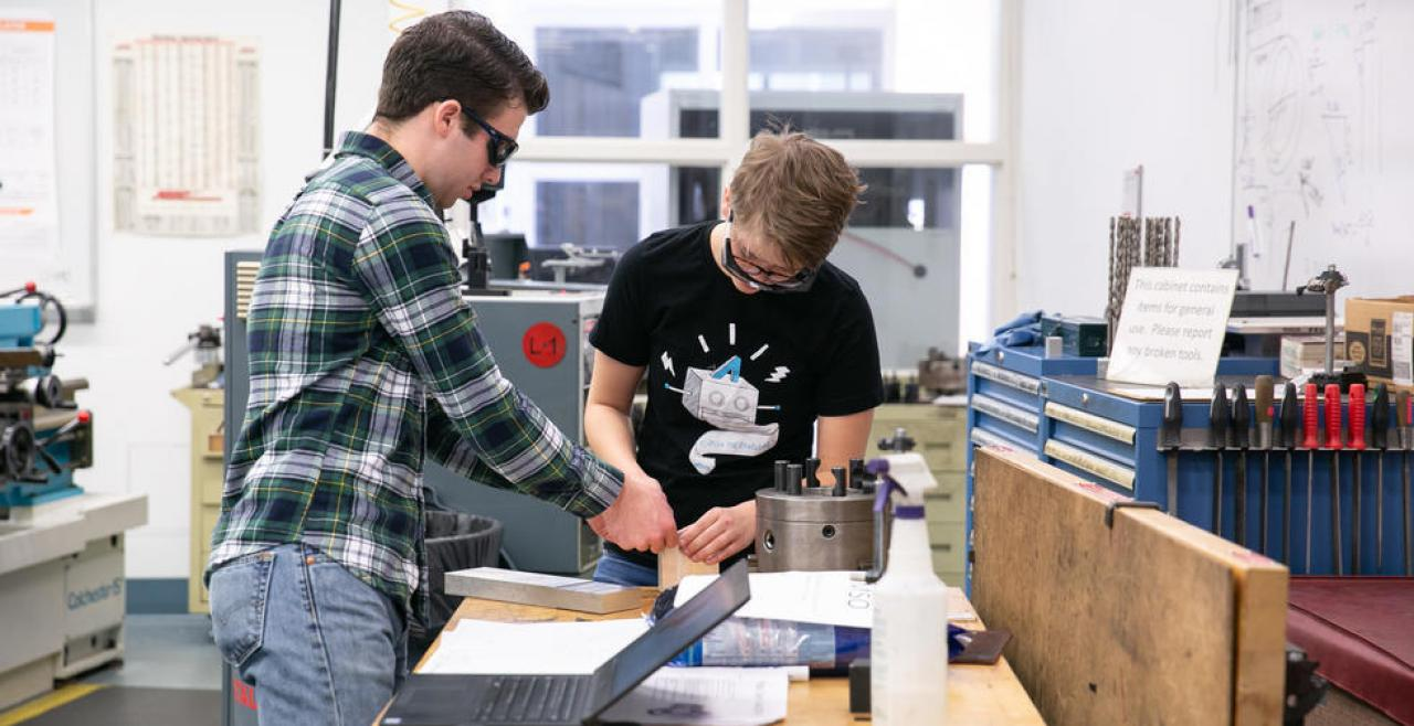 Two Olin students working